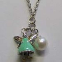 Green Aurora necklace, by Molly Brown.