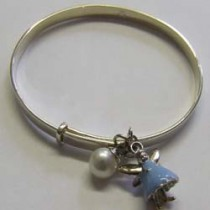 Blue Aurora bangle, by Molly Brown.