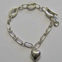 Molly Brown sterling silver, silver heart bracelet.