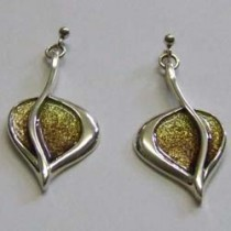 Sterling Silver Leah earrings by Ortak.