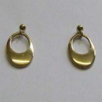 Orla, yellow gold drop earrings, by Ortak.