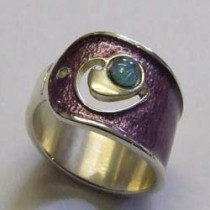Silver and Opal, Verona Zest ring, by Ortak.