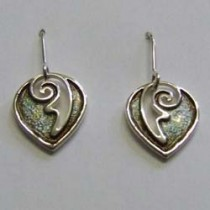 Silver Cairngorn Zest drop earrings, by Ortak.