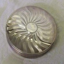 Sterling Silver powder compact.