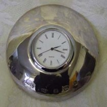 Sterling Silver flying saucer clock.