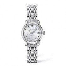 Longines ladies' Saint-Imier Collection polished stainless steel bracelet watch L2.263.4.72.6