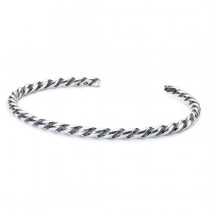 Trollbeads - Twisted Silver Bangle (XS) TAGBA- 00007