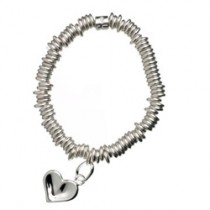 Links Of London Childs Sweetie Bracelet with Thumbprint Heart Charm 5010.0382