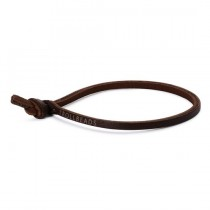Trollbeads - Single Leather Bracelet, Brown. TLEBR-00057