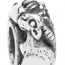 Trollbeads Limited Edition Sterling Silver Goat Zodiac Bead LE11401-8