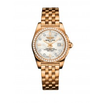 BREITLING GALACTIC 29 18CT ROSE GOLD DIAMOND LADIES WATCH