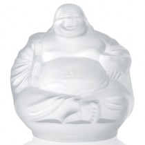 Lalique Happy Buddha Ornament.