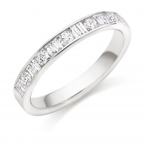 Platinum & Diamond Half Eternity/Bridal Band. HET9415