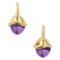 Links of London Yellow Gold Infinite Love Amethyst Earrings 5040.1951