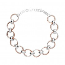 Links of London Aurora Silver & Rose Gold Vermeil Multi Link Bracelet 5010.3171