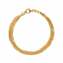 Links of London - Essentials 18kt Yellow Gold Vermeil Silk 10 Row Bracelet