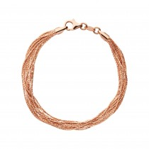Links of London - Essentials 18kt Rose Gold Vermeil Silk 10 Row Bracelet