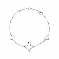 Links of London - Splendour Sterling Silver Open Four-Point Star Station Bracelet