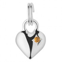 Links Of London Mini Heart Citrine Charm 5030.1902
