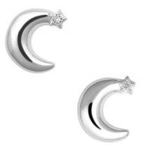 Links of London Over the Moon White Sapphire Stud Earrings 5040.1920