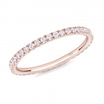 18CT ROSE GOLD AND DIAMOND MICRO-SET ETERNITY RING