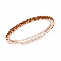 18CT ROSE GOLD AND ORANGE SAPPHIRE MICRO-SET ETERNITY RING
