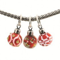 Trollbeads - Individual Limited Edition Red Christmas Ornament Bead. TAGBE-00041