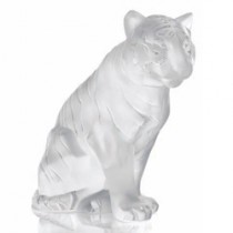 Lalique Sitting Tiger ornament.