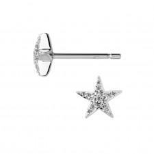 Links of London - Diamond Essentials Sterling Silver & White Pave Star Stud Earrings
