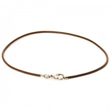 Trollbeads - Brown Leather Necklace 45cm. TLENE-00005