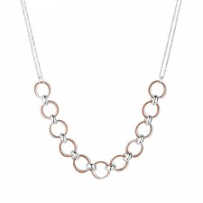 Links of London Aurora Silver & Rose Gold Vermeil Multi Link Necklace 5020.2948