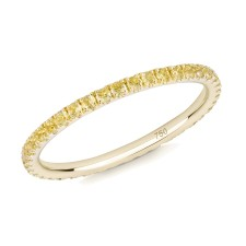 18CT YELLOW GOLD AND YELLOW SAPPHIRE MICRO-SET ETERNITY RING