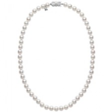 "Mikimoto 18"" Strand Necklace - White Gold Clasp"