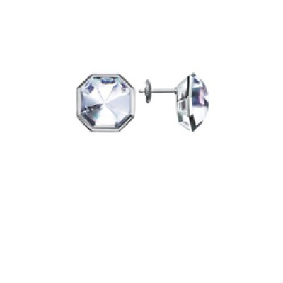 Baccarat L'Illustre Clear Mirror Crystal & Silver Stem Earrings 2611983