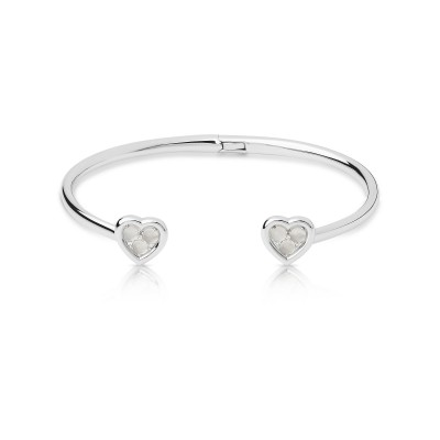 Links of London - Wholehearted Open Heart Sterling Silver, Moonstone & Diamond Cuff