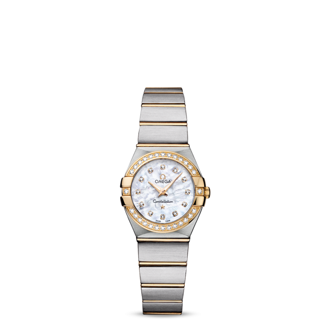 Sale LADIES OMEGA CONSTELLATION QUARTZ 24 MM Steel - yellow gold on Steel - yellow gold