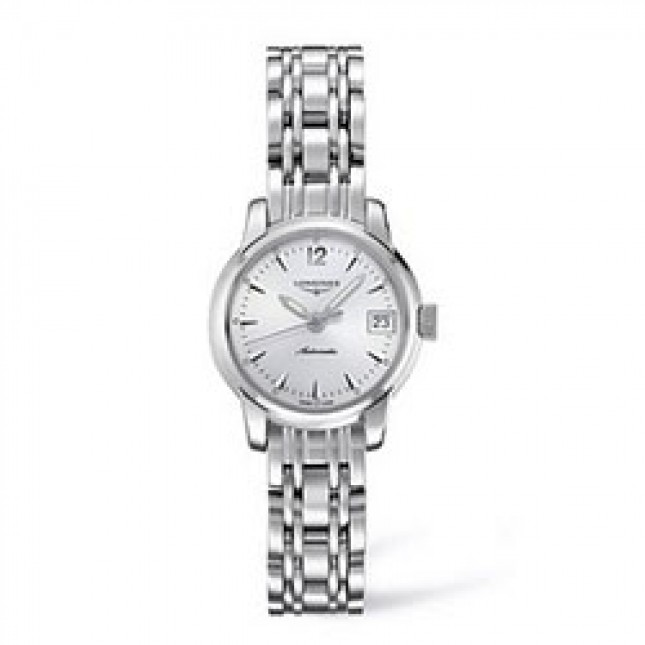 Sale Longines ladies' Saint-Imier Collection polished stainless steel bracelet watch L2.263.4.72.6