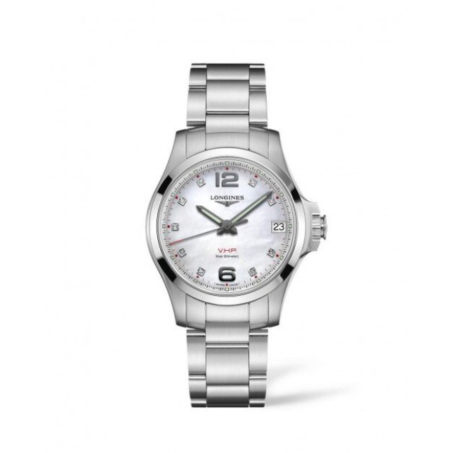 Sale LONGINES CONQUEST V.H.P 36MM MOTHER OF PEARL DIAL STAINLESS STEEL