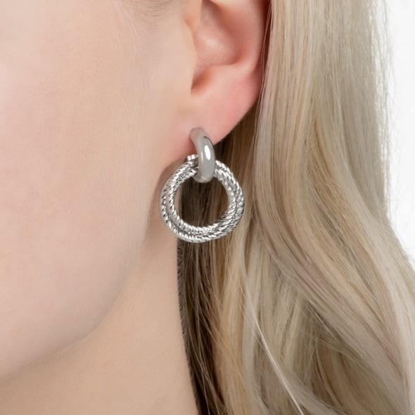 ff4b5ba5c Details. Stand out and shine with the Aurora Sterling Silver Hoop Earrings  by Links of London.