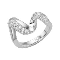 Links of London - 'Entwine' Sterling Silver & White Sapphire Ring