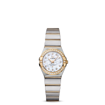 LADIES OMEGA CONSTELLATION QUARTZ 24 MM Steel - yellow gold on Steel - yellow gold