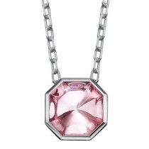 Baccarat L'Illustre Sterling Silver & Pink Mirror Crystal Necklace
