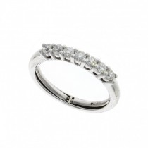 18ct White Gold & Diamond (Adjustable) 7 Stone Claw Set Ring