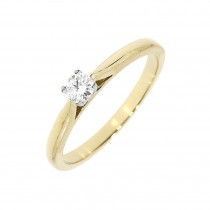 18CT DIAMOND SINGLE STONE RING