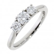 Platinum & Diamond Three Stone Ring