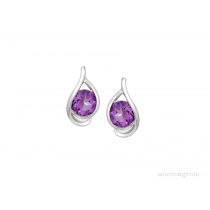 Sterling Silver 'Viola' Amethyst Earrings