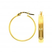 9ct Yellow Gold Medium Wedding Band Hoop Earrings (large)
