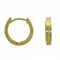 9ct Yellow Gold Concave Polished Huggy Hoop Earrings