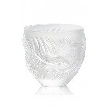 LALIQUE - POISSONS COMBATTANTS VOTIVE, CLEAR CRYSTAL
