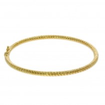 9ct Yellow Gold Round Twist Solid Bangle